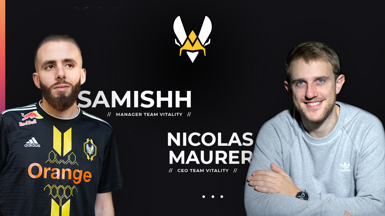 Samishh et Nicolas Maurer de Vitality partenaire de Gaming Campus