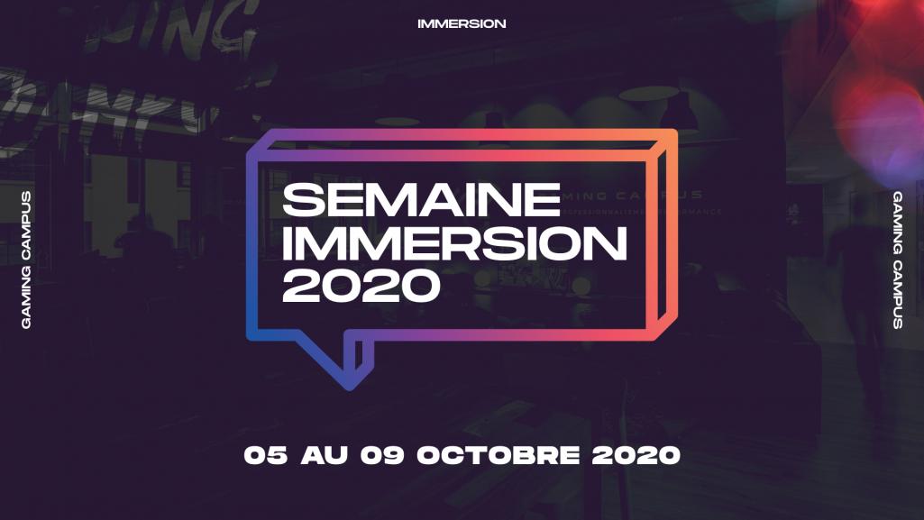 La Semaine d'Immersion 2020 des écoles de jeux vidéo Gaming Campus